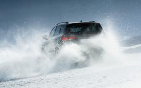 Картинка снег, SUV, корма, Seat, Cupra, Ateca, 2019