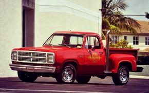 Картинка Dodge, Red, Truck, Adventurer
