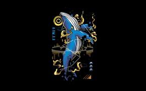 Картинка Fantasy, Art, Vector, Background, Illustration, Minimalism, Animal, Whale, Angga Tantama, Mammals