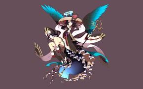 Картинка девушка, фентези, фон, крылья