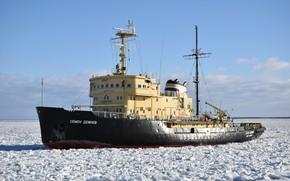 Картинка корабль, ледокольный, Семен Дежнев