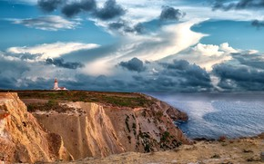 Картинка landscape, portugal, Cape Espichel's Lighthouse