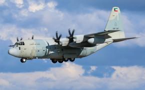 Картинка Посадка, Hercules, Военно-транспортный, Шасси, KC-130J Hercules, ВВС Кувейта