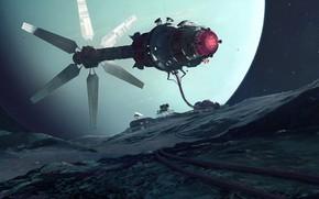 Картинка space, Art, Station, Uranus, Science Fiction