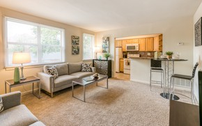 Картинка интерьер, кухня, гостиная, столовая, apartment for a single bachelor, Apartments in Baltimore