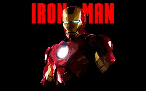 Картинка Minimal, Iron Man, Wallpaper, Artwork