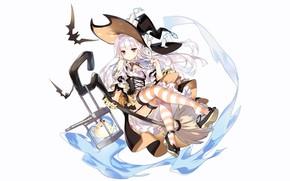 Картинка girl, sexy, halloween, long hair, anime, beautiful, attractive, handsome, white hair, Azur Lane, Erebus