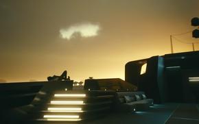 Картинка Яхта, Свет, Отделка, Лежит, Киану Ривз, Keanu Reeves, Мысли, Джонни, Киберпанк, Jacht, Cyberpunk, Night City, …