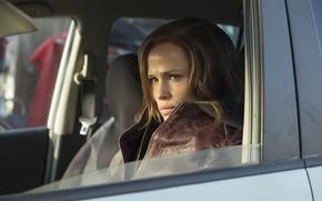 Картинка авто, взгляд, поза, волосы, hair, look, pose, в машине, Дженнифер Гарнер, Jennifer Garner, Багровая мята, …