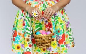 Картинка яйца, Пасха, корзинка