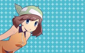 Картинка девушка, аниме, брюнетка, girl, бандана