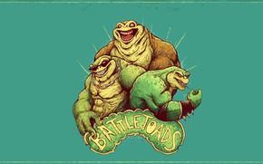 Картинка Рисунок, Игра, Арт, Battletoads, Боевые жабы, Рэш, Rash, Rare, Пимпл, Жабы, Zitz, Видеоигра, Pimple, Зитц