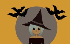 Картинка фон, хеллоуин, ведьмочка
