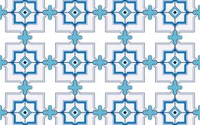 Картинка синий, фон, голубой, узор, текстура, белый фон, орнамент