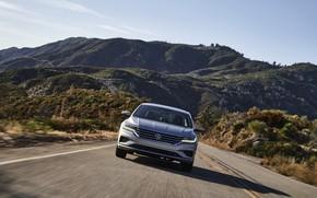 Картинка дорога, Volkswagen, седан, спереди, Passat, 2020, 2019, US Version