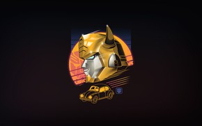 Картинка Минимализм, Рисунок, Ретро, Жук, Трансформеры, Арт, 80s, Robot, Transformers, 80's, Synth, Retrowave, Synthwave, New Retro …