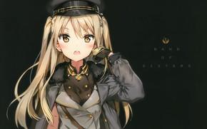 Картинка фуражка, военная форма, Внеклассные плеяды, houkago no pleiades, nanako, by Anmi