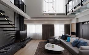 Обои дизайн, стиль, мебель, интерьер, гостиная