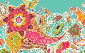 Картинка фон, текстура, colorful, орнамент, pattern, decorative, striped, seamless