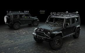 Картинка дизайн, транспорт, внедорожник, автомобиль, Jeep Wrangler Supercharged
