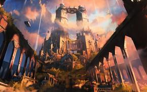 Картинка замок, башни, архитектура, spiregardens, Magic - The Gathering