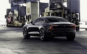 Картинка машина, авто, черный, Volvo, Вольво, Hybrid, гибрид, Volvo Polestar 1