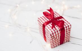 Картинка праздник, подарок, лента, Новый год