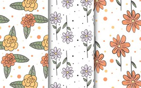 Картинка style, Flowers, patterns, ТЕКСТУРА, ЦВЕТЫ, drawn, hand, collection
