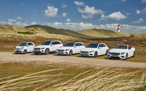 Картинка mercedes benz, cabrio, suv, smart, c-class, a-class