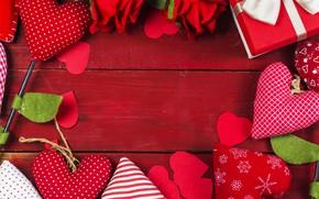 Картинка любовь, цветы, сердце, розы, сердечки, red, love, romantic, hearts, valentine's day, roses