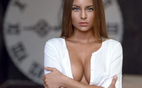 Картинка грудь, Девушка, вырез, Sergey Yakubitskiy