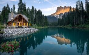 Картинка озеро, Канада, Emerald Lake