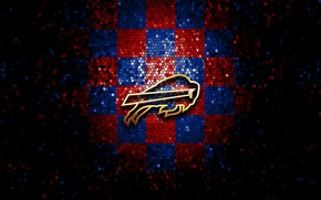Картинка wallpaper, sport, logo, NFL, glitter, checkered, Buffalo Bills