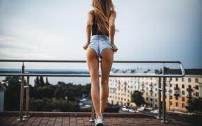 Картинка крыша, попа, девушка, шорты, Artem SolovЬev, Валерия Селина