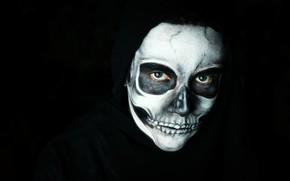 Картинка макияж, лицо, череп