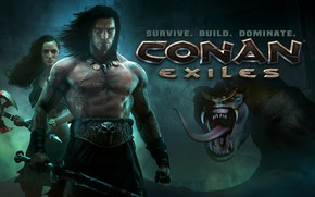 Картинка Фон, Мужик, Змей, Conan Exiles