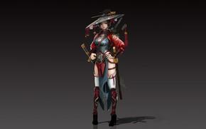 Картинка Girl, Fantasy, Art, Asian, Style, Illustration, Figure, Character, jae gun hyun, Satkat