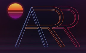 Картинка Музыка, Стиль, Фон, 80s, Sun, Style, Neon, Illustration, VHS, 80's, Synth, Retrowave, Synthwave, New Retro ...