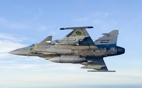 Картинка Gripen, JAS 39, SAAB, ВВС Швеции, Gripen JAS 39, ПТБ, MBDA Meteor