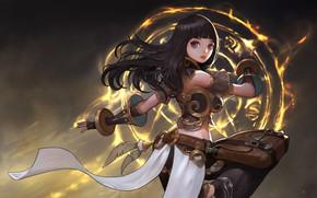 Картинка магия, аниме, арт, choi keun hoon, A magic woman