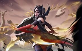 Картинка девушка, движение, Irelia, League Of Legends