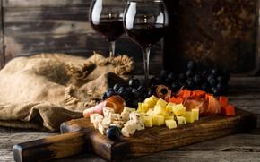 Картинка вино, красное, сыр, бокалы, закуска, ассорти