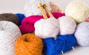 Картинка нитки, спицы, вязание, пряжа, хобби, hobby