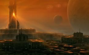 Картинка city, future, art, planet, Sci-Fi