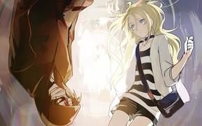 Картинка девушка, арт, парень, Ангел кровопролития, Satsuriku no Tenshi