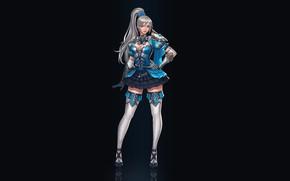 Картинка Dress, Fantasy, Donghun Kim, Stockings, Girl, Minimalism, Art, Style, Armor