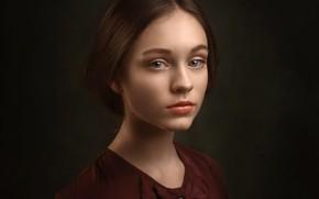 Картинка портрет, девочка, Катя, Лесной Альберт