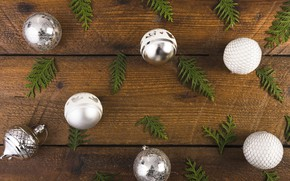 Картинка украшения, шары, Новый Год, Рождество, Christmas, balls, wood, New Year, decoration, Merry, fir tree, ветки …