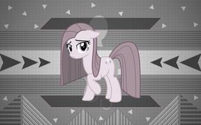 Картинка фон, пони, My Little Pony, серые цвета