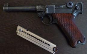 Картинка пистолет, оружие, парабеллум, люгер